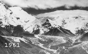 En finir avec le catastrophisme du réchauffement climatique ? Glacier_himalaya_1961