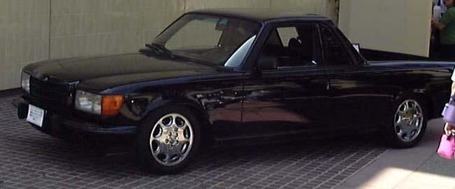 Mercedes segue BMW e também deve lançar pick up esportiva Mercedes-W116-Pickup
