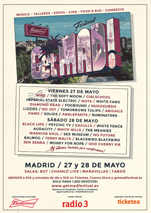 Get Mad! Festival CARTEL-A4