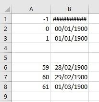 """Format """"date"""" avec Excel DateExcel2016"""