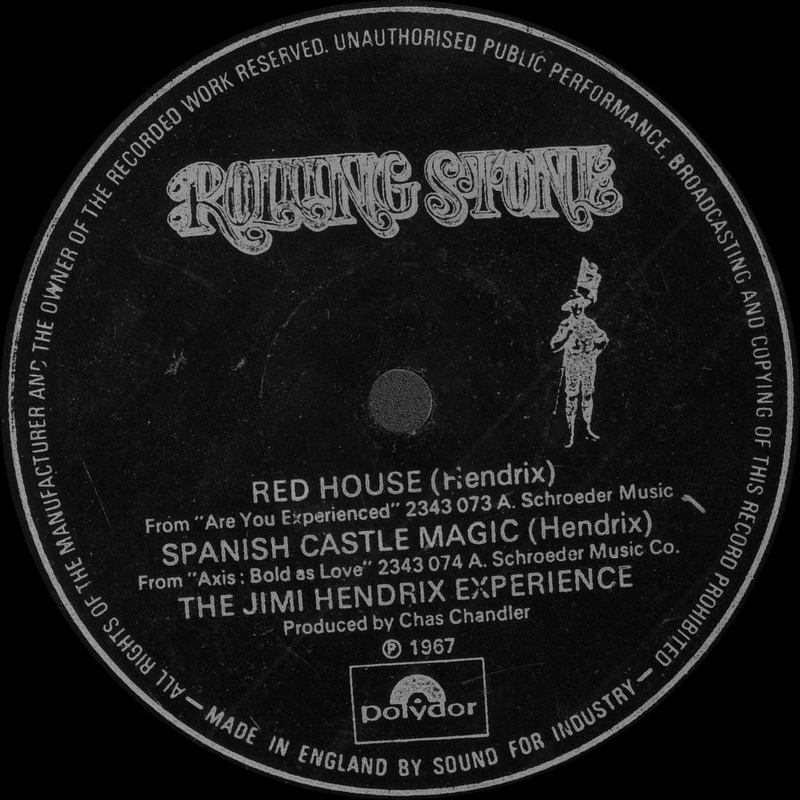 Discographie : 45 Tours : SP,  EP,  Maxi 45 tours - Page 12 Jimi%20Hendrix%20-%20Red%20House-Spanish%20Castle%20Magic%20-%20Rolling%20Stone%20SFI%201572%20UK