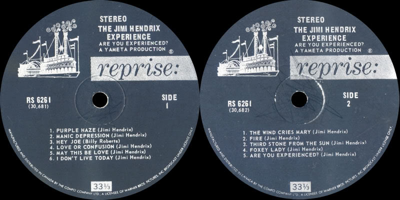 Are You Experienced (1967) AreYouExperiencedCanadaLabel