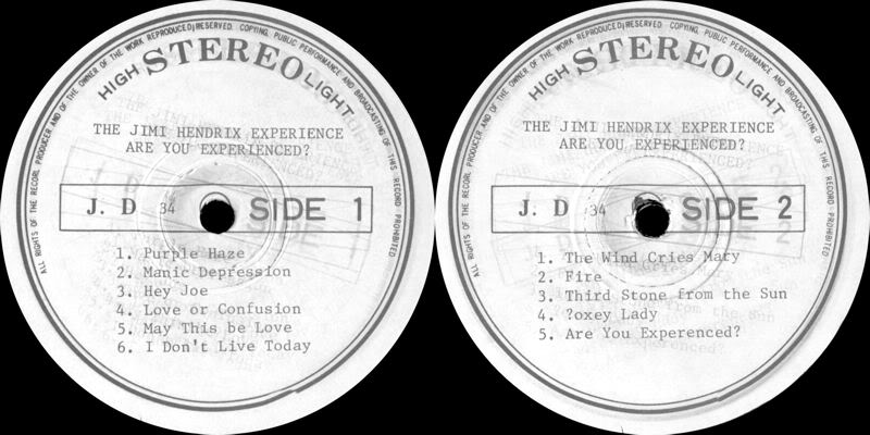 Discographie : Rééditions & Compilations - Page 7 AreYouExperiencedLabelCoreduSud