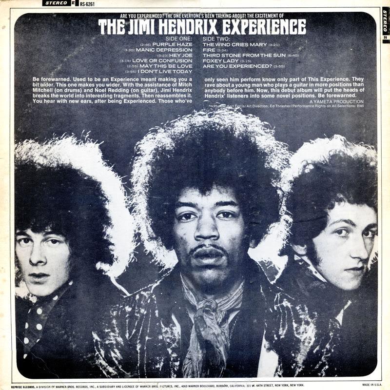 Are You Experienced (1967) AreYouExperiencedRS6261USABack