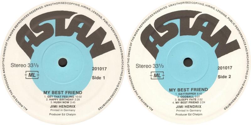 Discographie : Enregistrements pré-Experience & Ed Chalpin  - Page 8 Astan201017MyBestFriendLabel