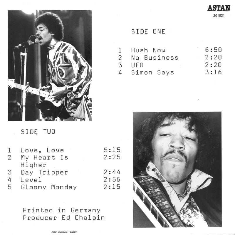 Discographie : Enregistrements pré-Experience & Ed Chalpin  - Page 9 Astan201021HushNowBack