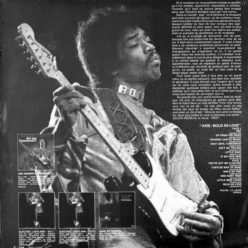 Discographie : Made in Barclay - Page 2 AxisBoldAsLoveDosBarclay