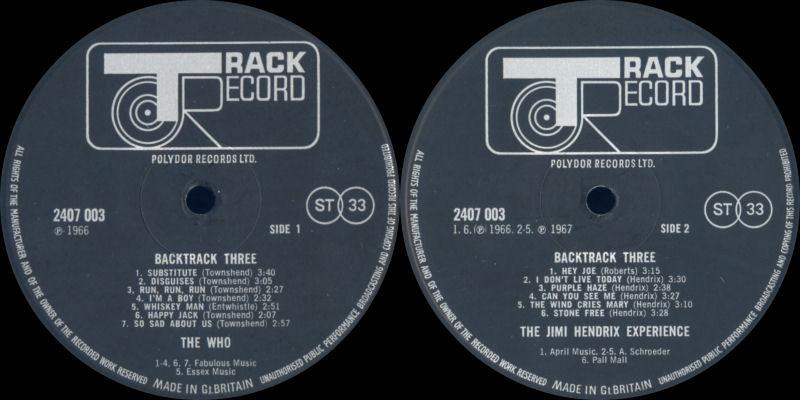 Discographie : Rééditions & Compilations Backtrack3Label_zpsaa32ff87