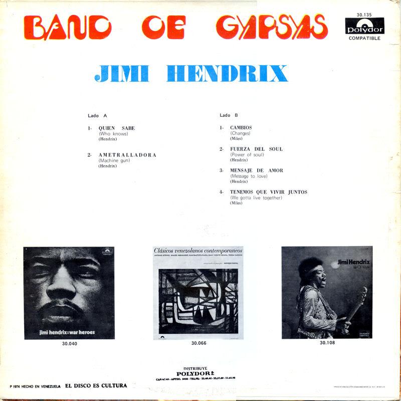 Discographie : Rééditions & Compilations - Page 5 BandOfGypsys-Polydor30135VenezuelaBack