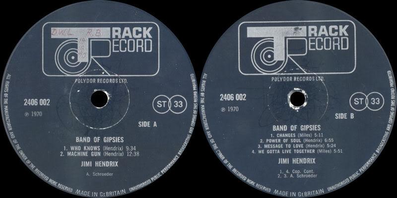 Band Of Gypsys (1970) BandOfGypsysTrackLabel