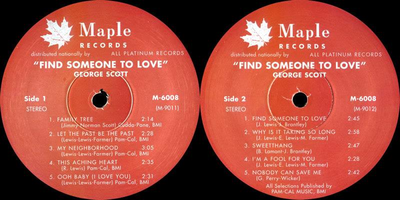 Discographie : Enregistrements pré-Experience & Ed Chalpin  - Page 4 GeorgeScott-FindSomeoneToLoveLabel