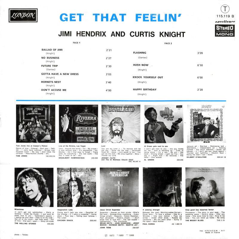 Discographie : Enregistrements pré-Experience & Ed Chalpin  GetThatFeelingDos