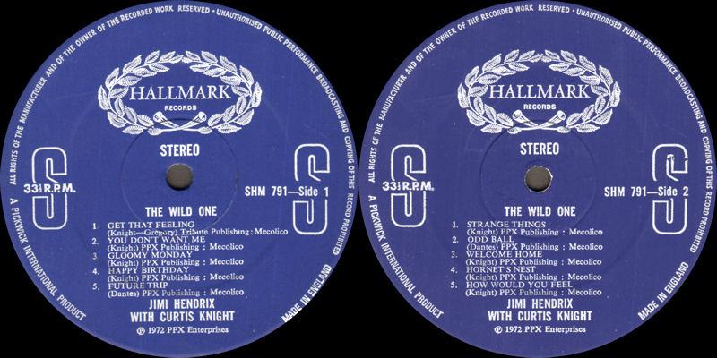 Discographie : Enregistrements pré-Experience & Ed Chalpin  Hallmark-SHM791-TheWildOneLabel