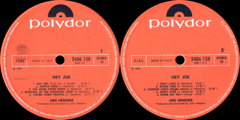 Discographie : Rééditions & Compilations HeyJoeItalylabel