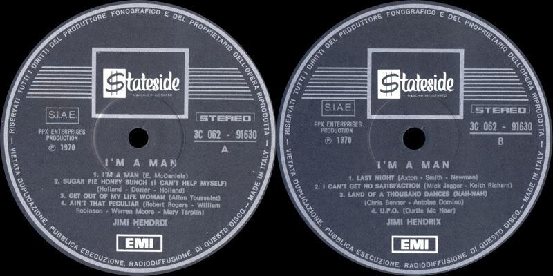 Discographie : Enregistrements pré-Experience & Ed Chalpin  - Page 2 ImAManItalieLabel