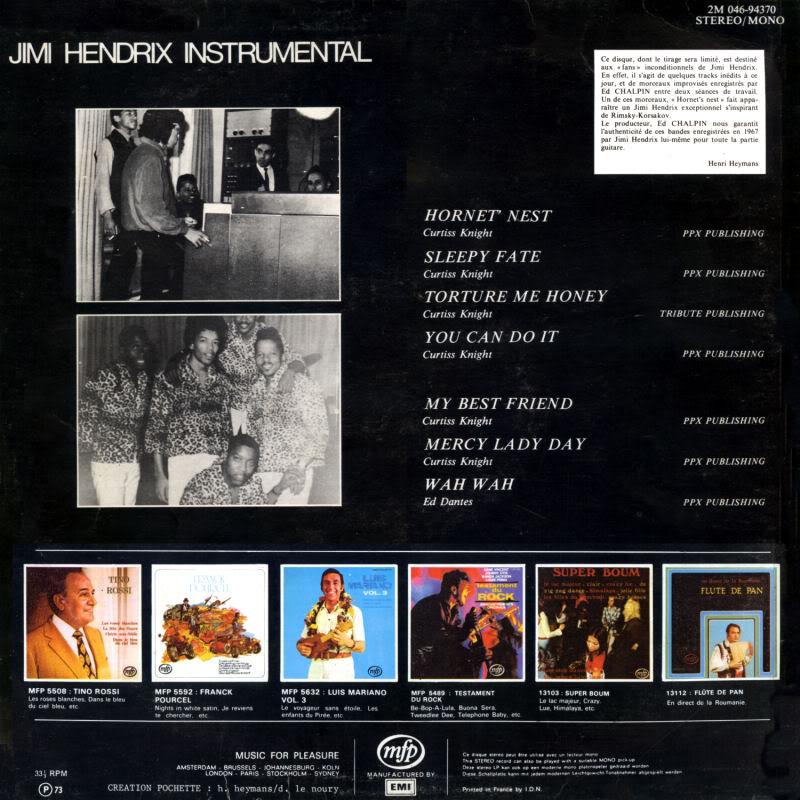 Discographie : Enregistrements pré-Experience & Ed Chalpin  - Page 2 InstrumentalBack