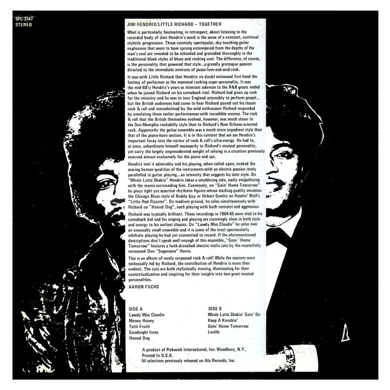 Discographie : Enregistrements pré-Experience & Ed Chalpin  - Page 3 JimiHendrixLittleRichard-TogetherBack