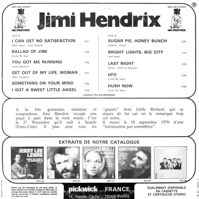 Discographie : Enregistrements pré-Experience & Ed Chalpin  - Page 2 LextraordinaireBack