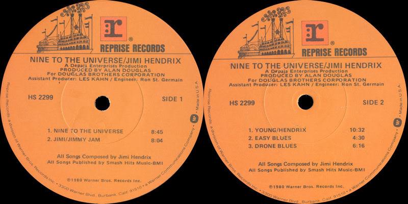 Nine To The Universe (1980) NineToTheUniversepromoLabel