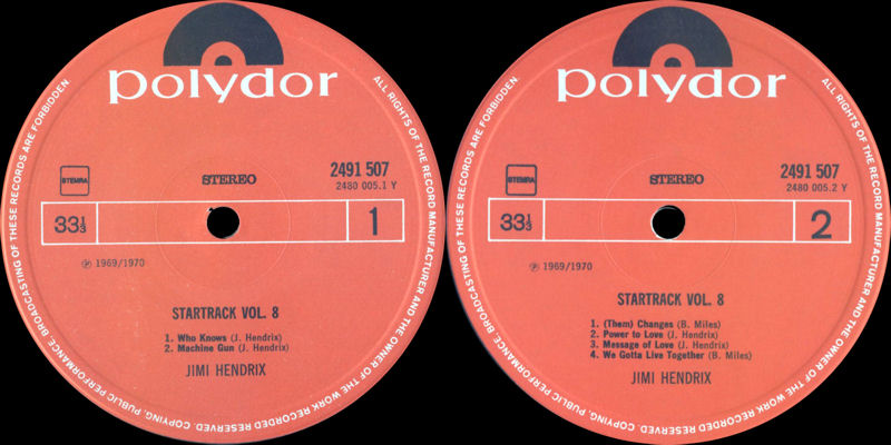 Discographie : Rééditions & Compilations - Page 7 Polydor2491507-StartrackVol8Label