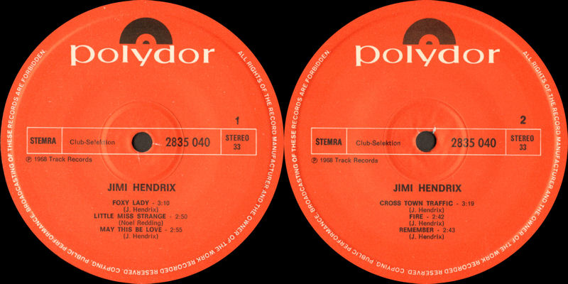 Discographie : 45 Tours : SP,  EP,  Maxi 45 tours - Page 10 Polydor2835040ClubSelektionLabel_zps4ed8f667