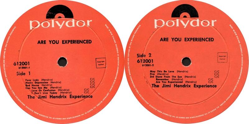 Discographie : Rééditions & Compilations - Page 9 Polydor612.001AreYouExperiencedLabelNewZealand