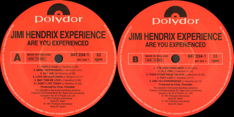 Discographie : Rééditions & Compilations - Page 10 Polydor847234-1-AreYouExperiencedLabel_zps2f43d01c