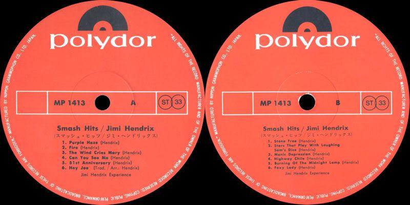 Discographie : Rééditions & Compilations - Page 5 PolydorMP1413-SmashHitsJaponLabel