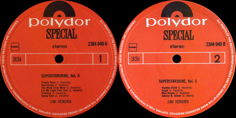 Discographie : Rééditions & Compilations - Page 7 PolydorSpecial2384040-SuperstarshineLabel