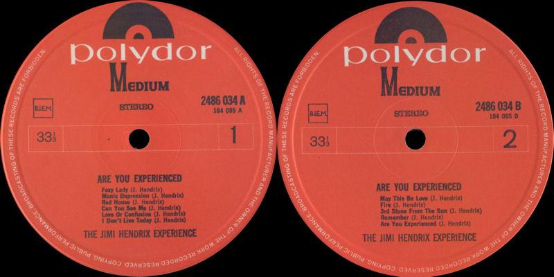 Discographie : Rééditions & Compilations - Page 7 Polydormedium2486034AreYouExperiencedLabel