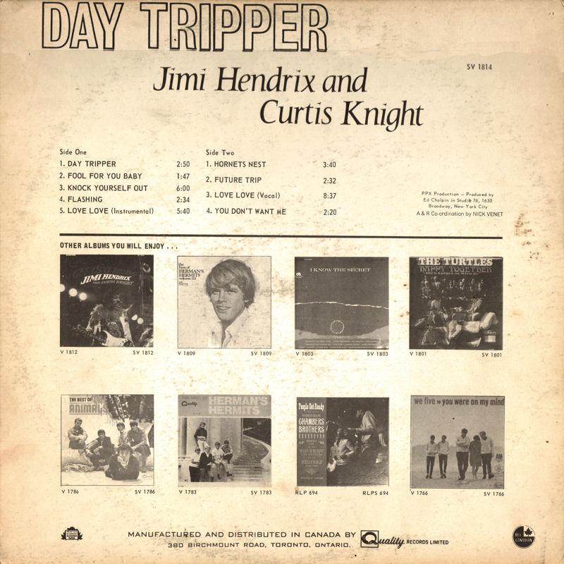 Discographie : Enregistrements pré-Experience & Ed Chalpin  - Page 7 QualitySV1814-DayTripperCanadaBack_zps70973926