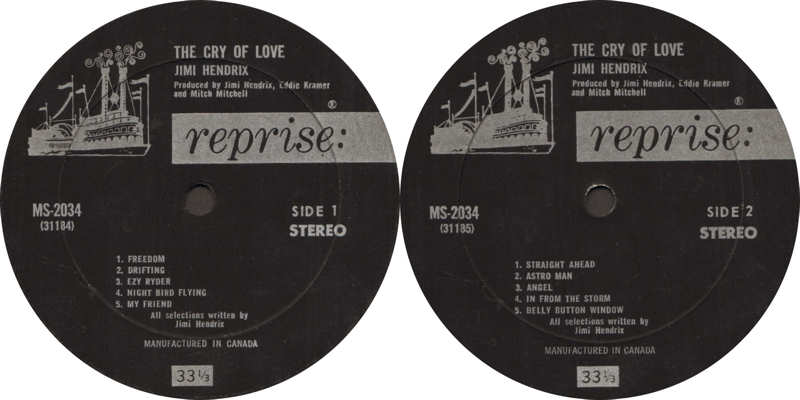 The Cry Of Love (1971) - Page 2 RepriseMS2034TheCryOfLoveLabelCanada