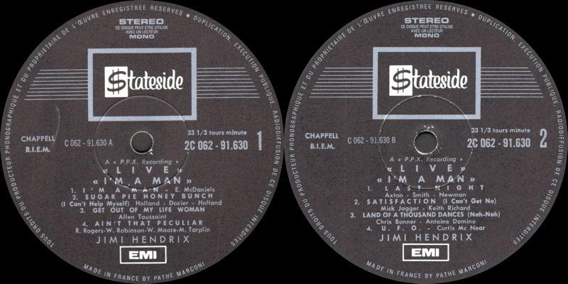 Discographie : Enregistrements pré-Experience & Ed Chalpin  Stateside2C-062.91.630-IamManLabel