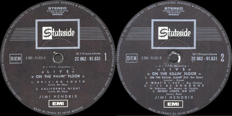 Discographie : Enregistrements pré-Experience & Ed Chalpin  Stateside2C-062.91.631-On%20The%20KillingFloorLabel