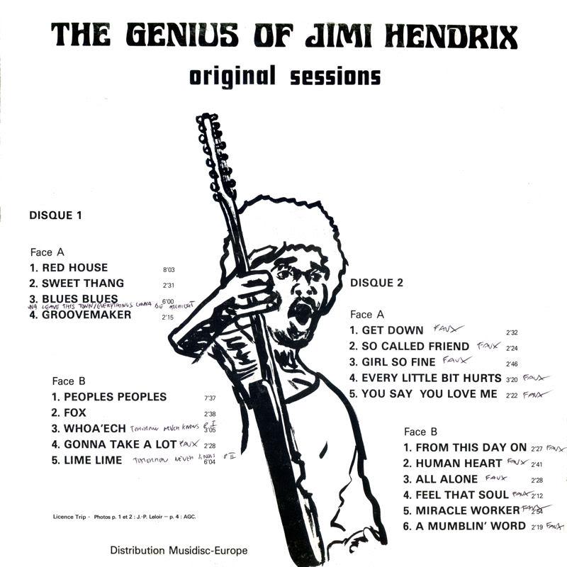 Discographie : Enregistrements pré-Experience & Ed Chalpin  - Page 5 TheGeniusOfJimiHendrixOriginalSessionsInsidedroite