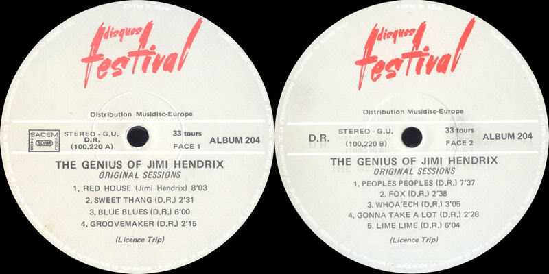 Discographie : Enregistrements pré-Experience & Ed Chalpin  - Page 5 TheGeniusOfJimiHendrixOriginalSessionsLabel1