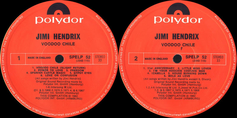 Discographie : Rééditions & Compilations - Page 5 VoodooChilePolydorSPELP52Label