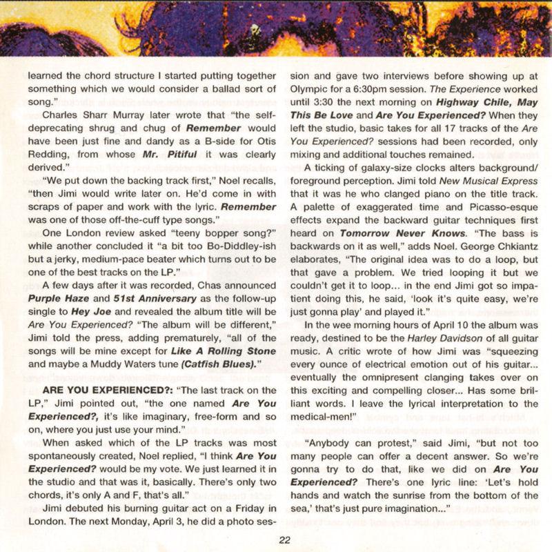 Discographie : Compact Disc   - Page 2 AreYouExperiencedPolydor521036-21993ADDlivret22_zps2e18eeda