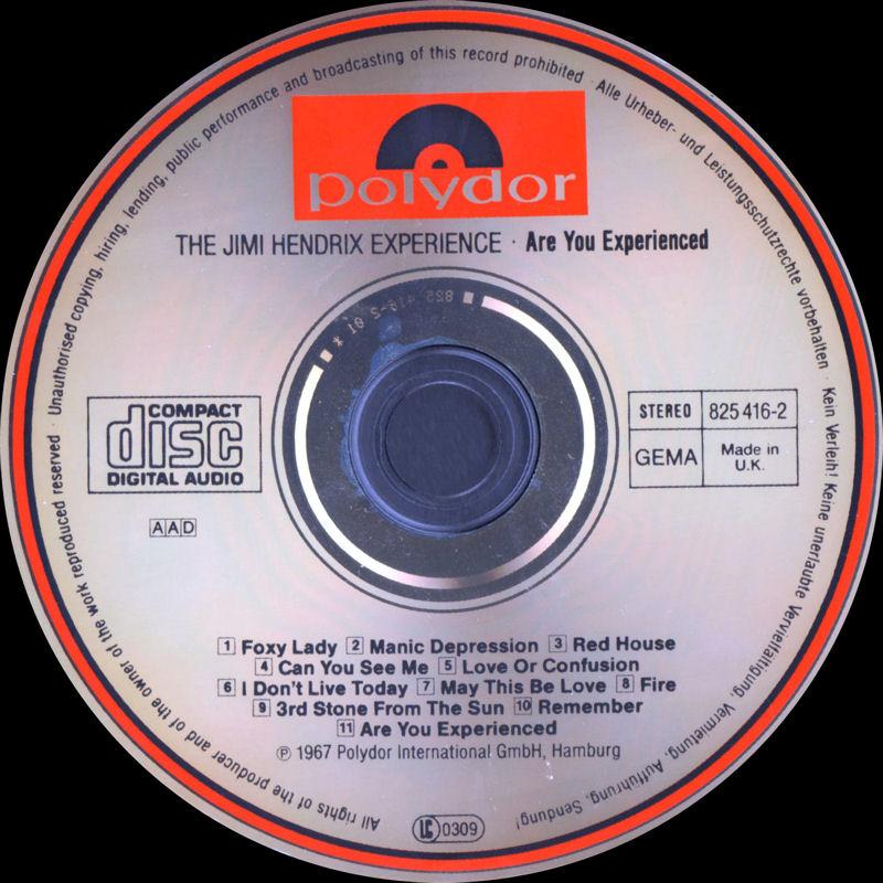 Discographie : Compact Disc   - Page 2 AreYouExperiencedPolydor825416-21989AADLabel_zps61eeaf43