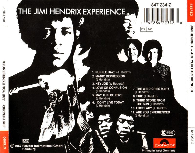 Discographie : Compact Disc   - Page 2 AreYouExperiencedPolydor847234-21991AADBack_zps18b207e4