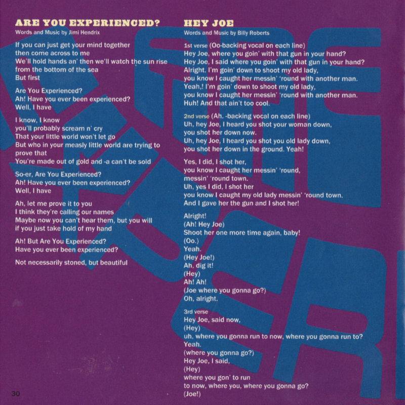 Discographie : Compact Disc   - Page 2 AreYouExperiencedSonyMusic88697631792ADD08Mars2010Livret30_zpsc6f439e2