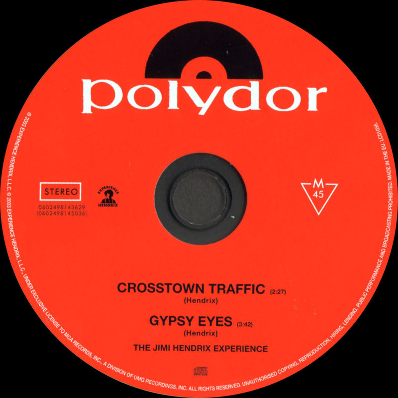 Discographie : Compact Disc   MCARecords0602498143629-CrosstownTraffic-GypsyEyesLabel_zps5bb41b99