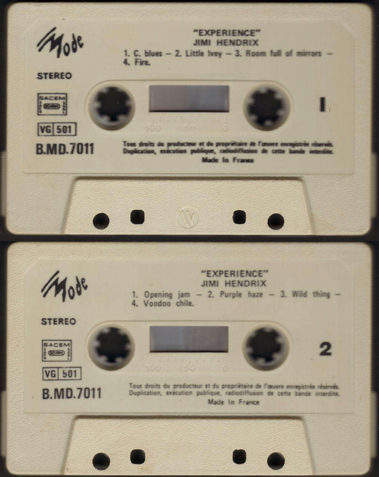 Londres (Royal Albert Hall) : 24 février 1969 - Page 4 1977ExperienceRAH-K7TapeVogueBMD7011