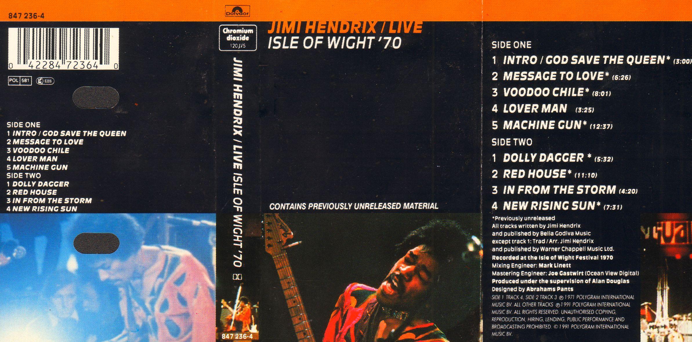Live Isle Of Wight '70 (1991) 1991IsleOfWightK7BackMCA847.236-4