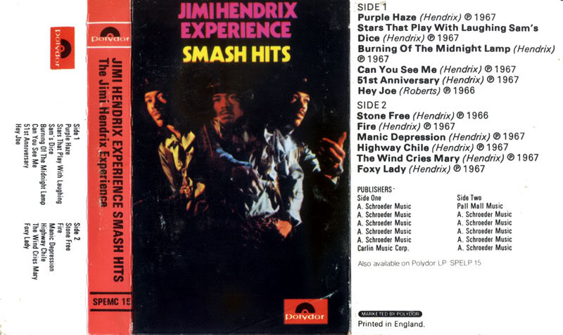 Discographie : Rééditions & Compilations PolydorSPEMC15-SmashHitsK7jaquette