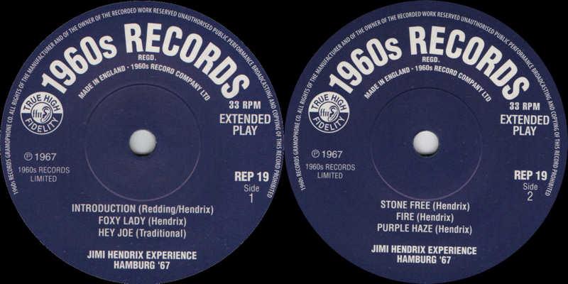 Discographie : 45 Tours : SP,  EP,  Maxi 45 tours - Page 12 1960sRecordsREP19-Hamburg67Label