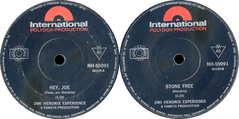 Discographie : 45 Tours : SP,  EP,  Maxi 45 tours - Page 4 1966%20Polydor%20InternationalNH-59091-HeyJoe-StoneFree