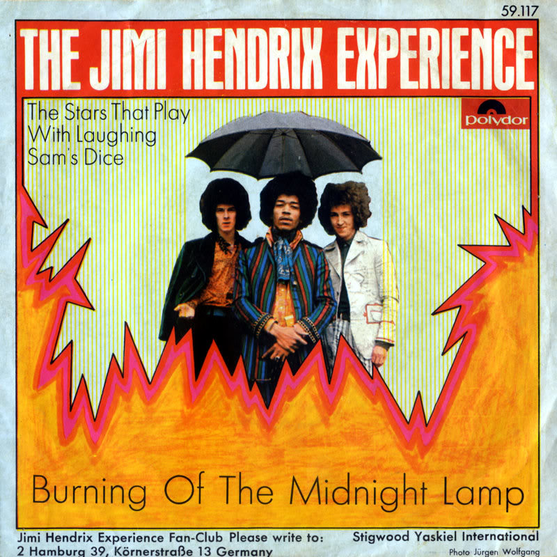 Discographie : 45 Tours : SP,  EP,  Maxi 45 tours - Page 8 1967%20Polydor%20-BurningOfTheMidnightLamp-TheStarThatPlayWithLaughingSamsDiceFront%20Germany