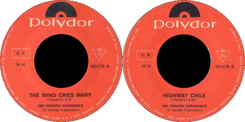 Discographie : 45 Tours : SP,  EP,  Maxi 45 tours - Page 6 1967%20Polydor%2059078-TheWindCriesMary-HighwayChile%20Italie