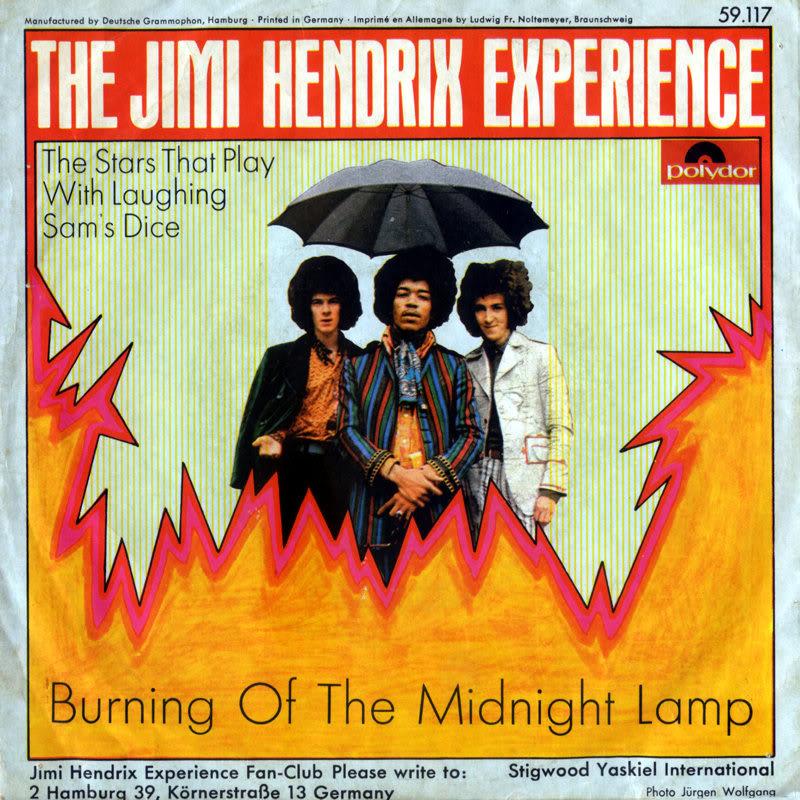 Discographie : 45 Tours : SP,  EP,  Maxi 45 tours - Page 8 1967%20Polydor%2059117-BurningOfTheMidnightLamp-TheStarThatPlayWithLaughingSamsDiceBack%20Germany